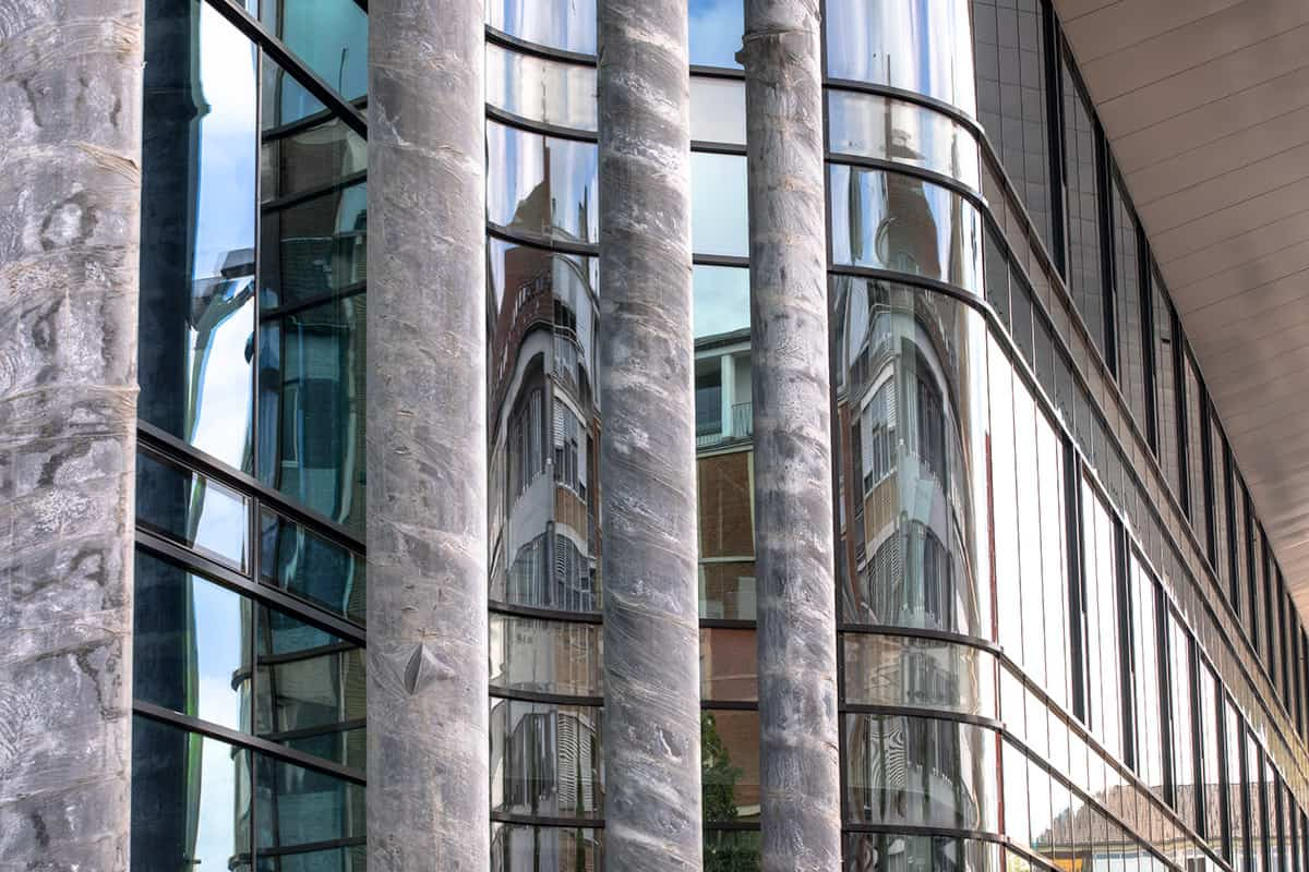 Fassade des Hauptbahnhofs Münster